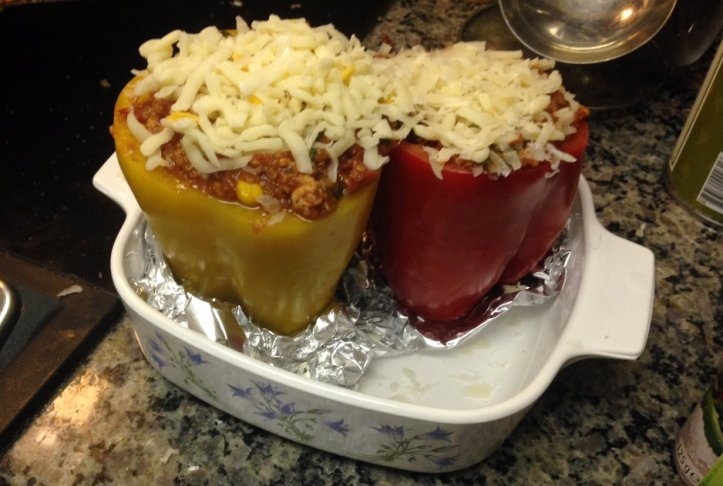 Two Stuffed Peppers Whole