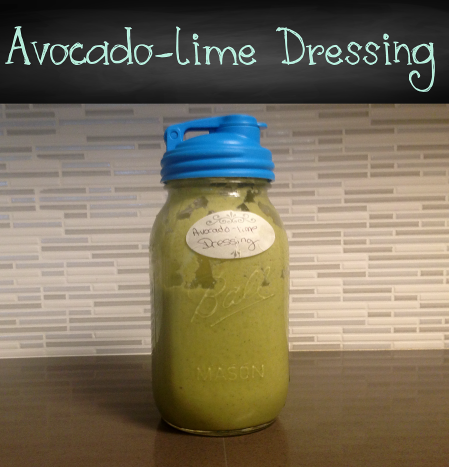 Avocado-lime salad dressing and taco sauce