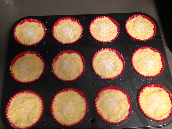 Ready to bake orange-kissed corn muffins